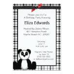 Invitación del cumpleaños del oso de panda