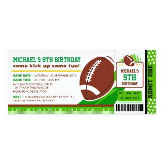 Invitación del cumpleaños del paso del boleto del