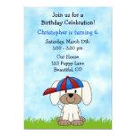 Invitación del cumpleaños del perro de perrito