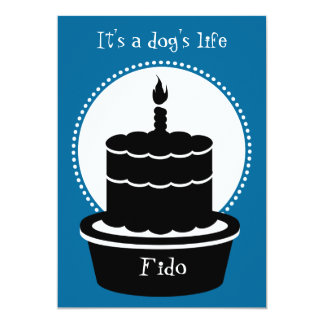 ¡Invitación del cumpleaños del perro - la vida y Invitación 12,7 X 17,8 Cm