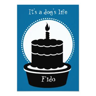 """¡Invitación del cumpleaños del perro - la vida y Invitación 5"""" X 7"""""""