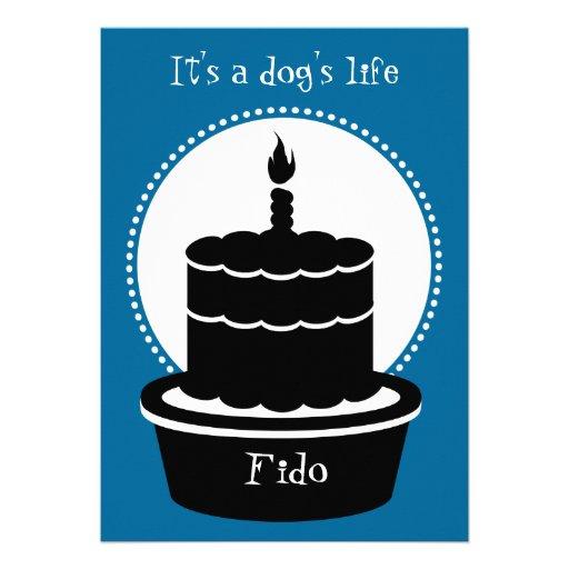 ¡Invitación del cumpleaños del perro - la vida y l