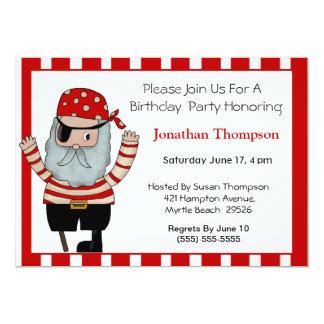 Invitación del cumpleaños del pirata