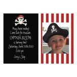Invitación del cumpleaños del pirata de la imagen