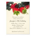 Invitación del cumpleaños del placer de la baya invitación 12,7 x 17,8 cm