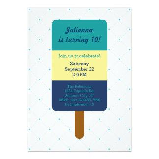 Invitación del cumpleaños del Popsicle