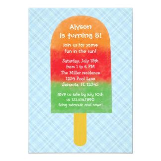 Invitación del cumpleaños del Popsicle del fiesta