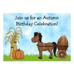 Invitación del cumpleaños del potro del otoño - mu