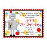Invitación del cumpleaños del robot