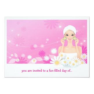 Invitación del cumpleaños del rosa de la brisa del