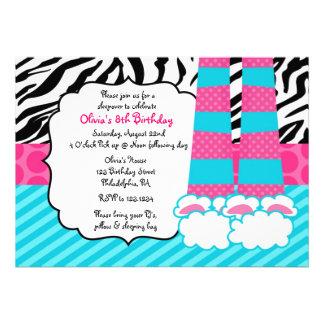 Invitación del cumpleaños del Sleepover