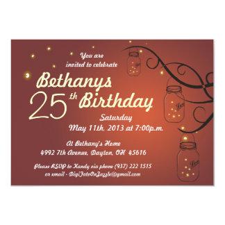 Invitación del cumpleaños del tarro de albañil en