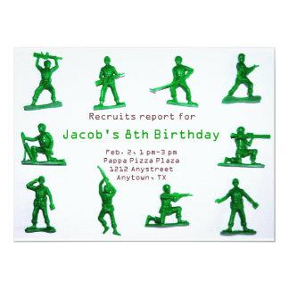 Invitación del cumpleaños del tema del ejército de