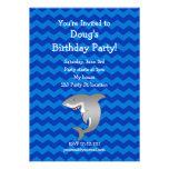Invitación del cumpleaños del tiburón