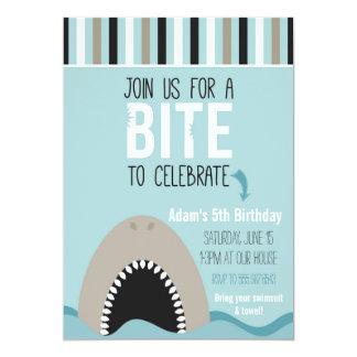 Invitación del cumpleaños del tiburón y de las