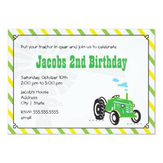 Invitación del cumpleaños del tractor
