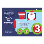 Invitación del cumpleaños del TREN 5x7 de SANTA de