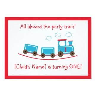 Invitación del cumpleaños del tren de Choo Choo Invitación 12,7 X 17,8 Cm