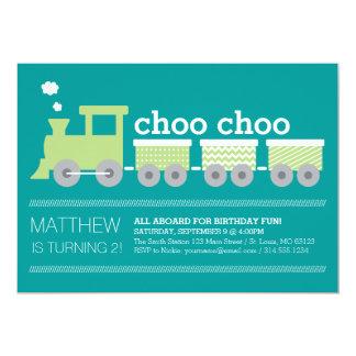 Invitación del cumpleaños del tren de Choo Choo