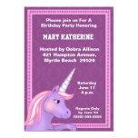 Invitación del cumpleaños del unicornio