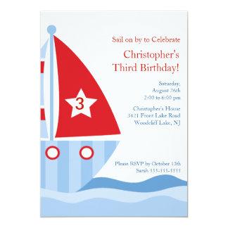 Invitación del cumpleaños del VELERO