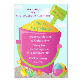 Invitación del cumpleaños del verano