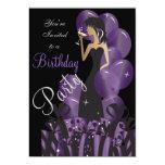 Invitación del cumpleaños, el fiesta del chica con invitación 12,7 x 17,8 cm