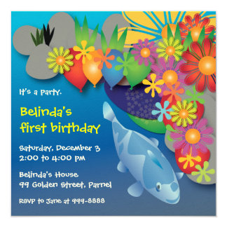 Invitación del cumpleaños: Estanque de peces 016