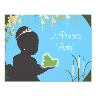 Invitación del cumpleaños - princesa y rana