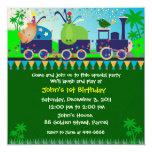 Invitación del cumpleaños: tren lindo de 019B A