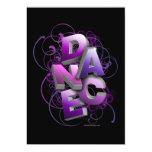 invitación del decreto de la danza 3D (verano) Invitación 12,7 X 17,8 Cm