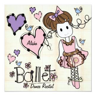 Invitación del decreto de la danza del ballet