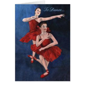 Invitación del decreto de la danza tarjeta de felicitación