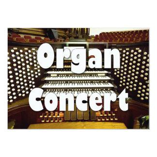 Invitación del decreto del órgano - consola del
