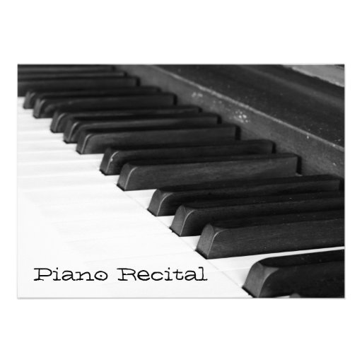 Invitación del decreto del piano
