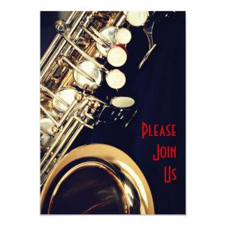 Invitación del decreto del saxofón