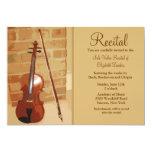 Invitación del decreto del violín
