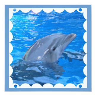Invitación del delfín de Bottlenose Invitación 13,3 Cm X 13,3cm
