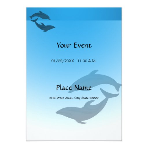 Invitación del delfín del azul de océano