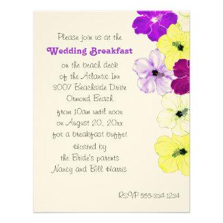Invitación del desayuno del boda de la frontera de
