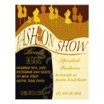 Invitación del desfile de moda y del diseñador tarjeta publicitaria