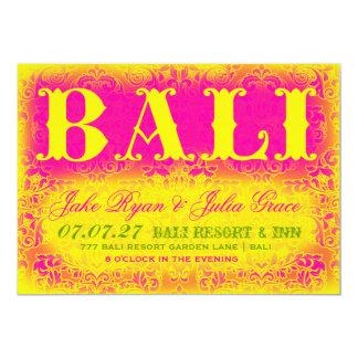 Invitación del destino de BALI
