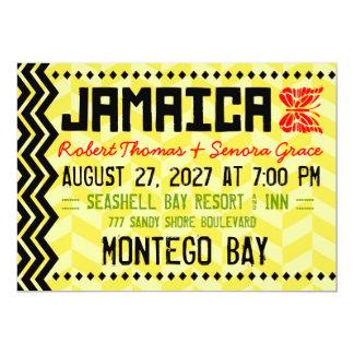 Invitación del destino de JAMAICA Invitación 12,7 X 17,8 Cm