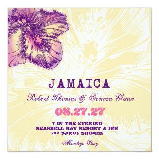 Invitación del destino del hibisco de JAMAICA Invitación 13,3 Cm X 13,3cm