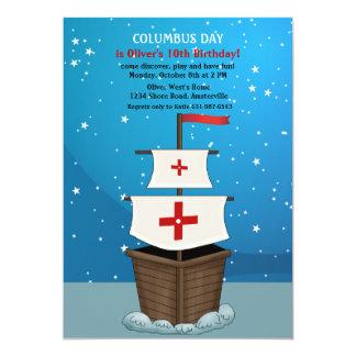 Invitación del día de Colón Invitación 12,7 X 17,8 Cm