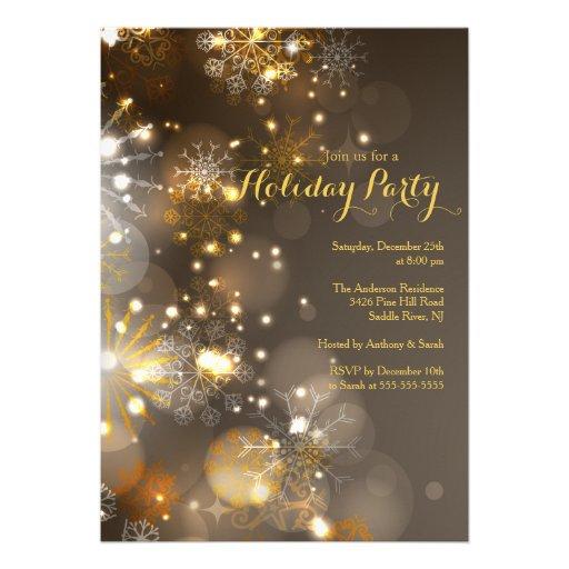 Invitación del día de fiesta de los copos de nieve
