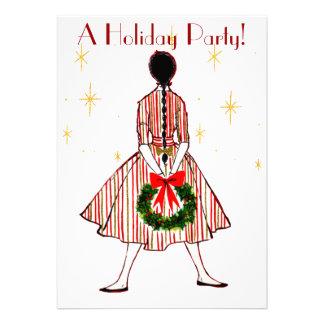 Invitación del día de fiesta del chica del navidad