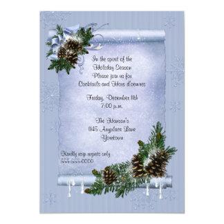 Invitación del día de fiesta del cono del pino del
