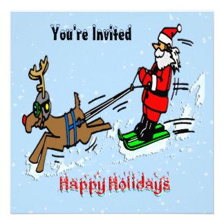 Invitación del día de fiesta del esquí de Santa