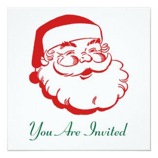 Invitación del día de fiesta del navidad invitación 13,3 cm x 13,3cm